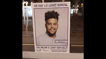 Rasszista plakátokat tettek ki egy józsefvárosi önkormányzati képviselőről a VIII. kerületben