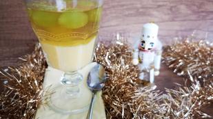 Látványos és különleges desszert: vaníliás aszúzselé szőlőszemekkel