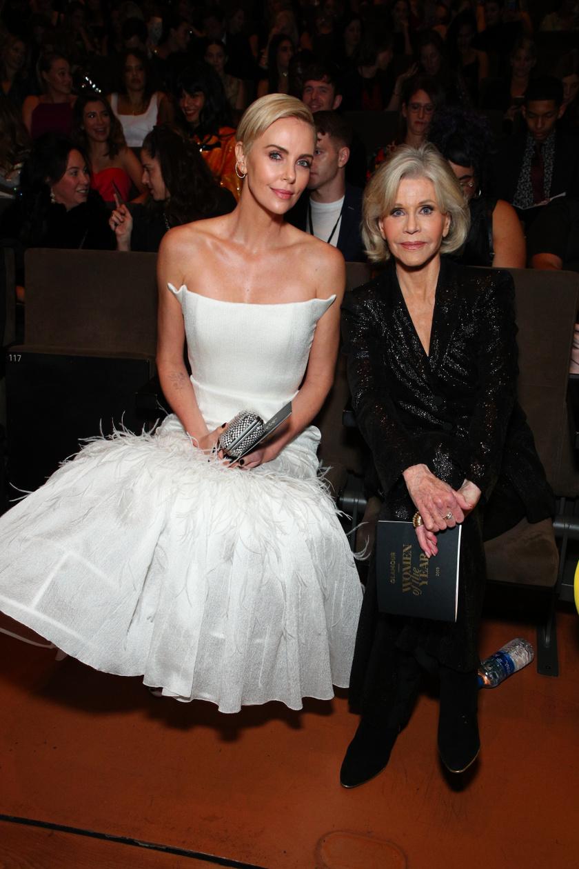 Charlize Theron színésznővel.