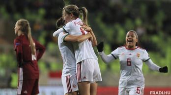 Kiütéssel lett meg a női fociválogatott első győzelme az Eb-selejtezőkön