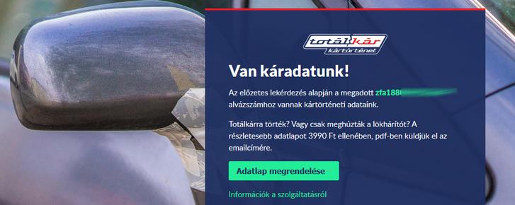 Ha van Magyarországi kárkalkuláció az autóról, ezt a választ kapod