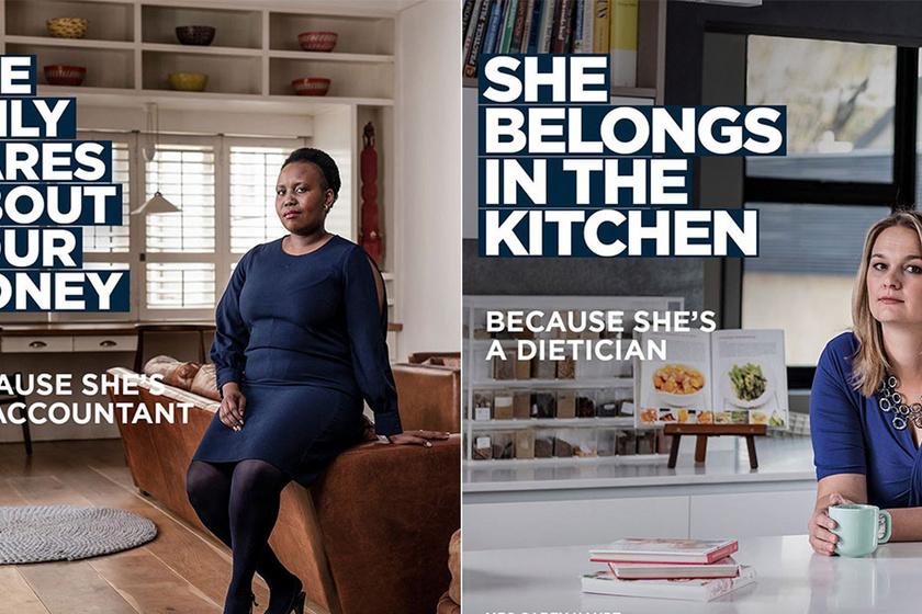 """""""A nőket csak a pénz érdekli, és a konyhában lenne a helyük"""" - 8 zseniális plakát, ami ledönti a sértő sztereotípiákat"""