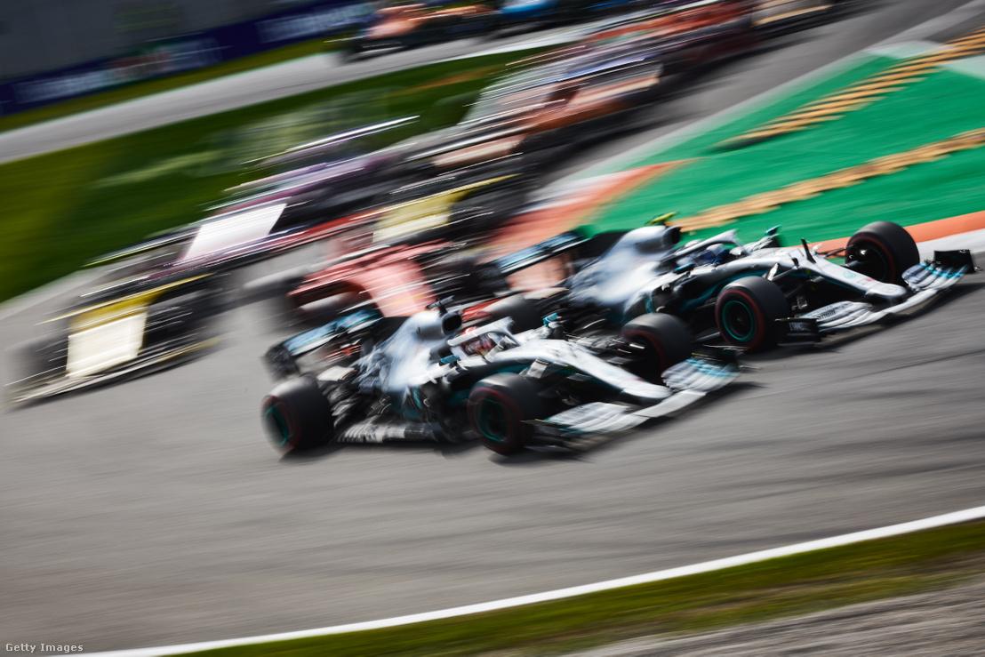 Hamilton és Bottas fej-fej mellett a 2019-es Francia Nagydíjon