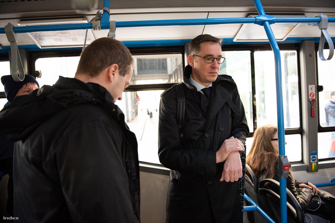 Karácsony Gergely BKV-n utazott a kormányülésre, Orbán Viktor meghívására 2019. november 6-án