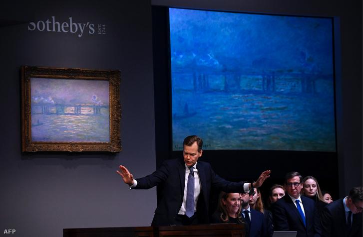 Monet Charing Cross Bridge festménye a Sotheby's aukcióján