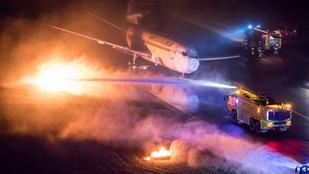 Repülőgép-katasztrófát szimuláltak a ferihegyi reptéren