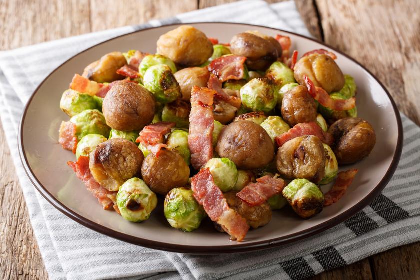 Baconös kelbimbó gesztenyével sütve: fantasztikus előétel vagy ínyenc vacsora is lehet
