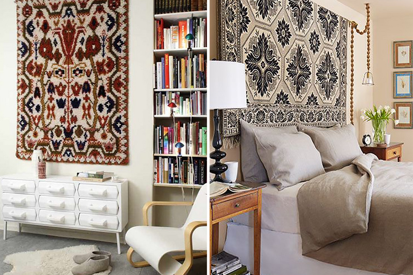 A klasszikus faliszőnyegek éppen ugyanúgy festettek, mint a rendes szőnyegek, csak éppen a falon. Azonban mára már számos modernebb dizájn is elérhető.