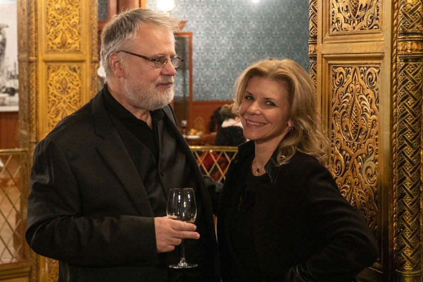 Schell Judit Máté Gáborral A Szép csendben 2019. november 12-i díszbemutatóján.
