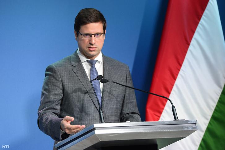 Gulyás Gergely Miniszterelnökséget vezető miniszter a mai Kormányinfó sajtótájékoztatón