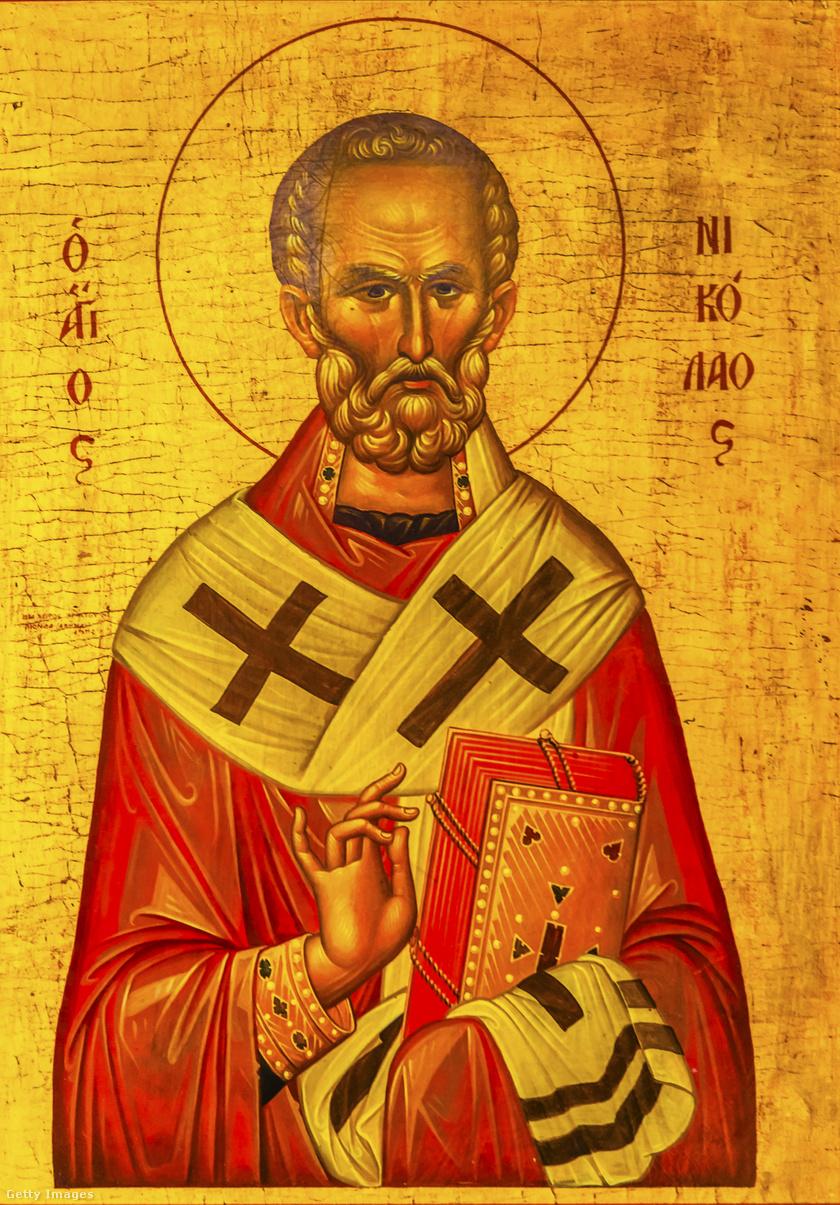 Miklós püspök ábrázolása egy jordániai templomban