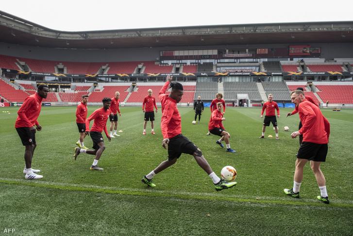 A Slavia edzése