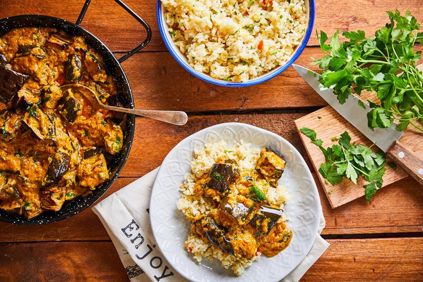 Padlizsános-curry