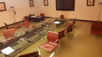 Elöntötte a víz a Venetói Regionális Tanács épületét