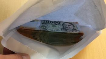 Kétmillió forintot talált egy borítékban, bevitte a rendőrségre