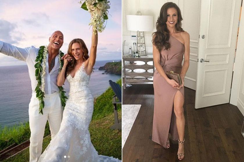 Dwayne Johnson és Lauren Hashian 2019-ben házasodtak össze, a színész 12 év után vezette oltár elé kedvesét.