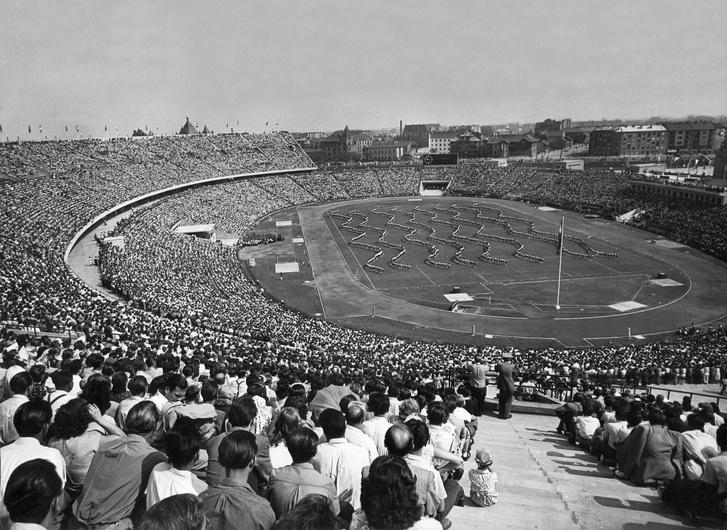 A Népstadion avatóünnepsége 1953-ban