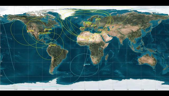 A sárgával jelölt területeken tudják majd befogni a műhold jeleit