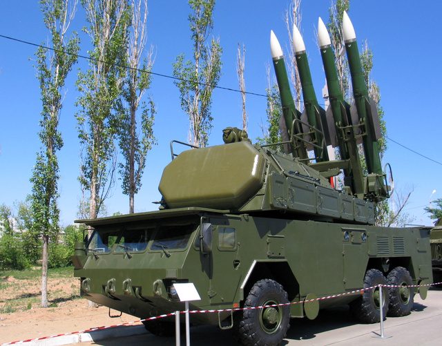 Buk-M2 rendszer mobil rakétakilövő egysége