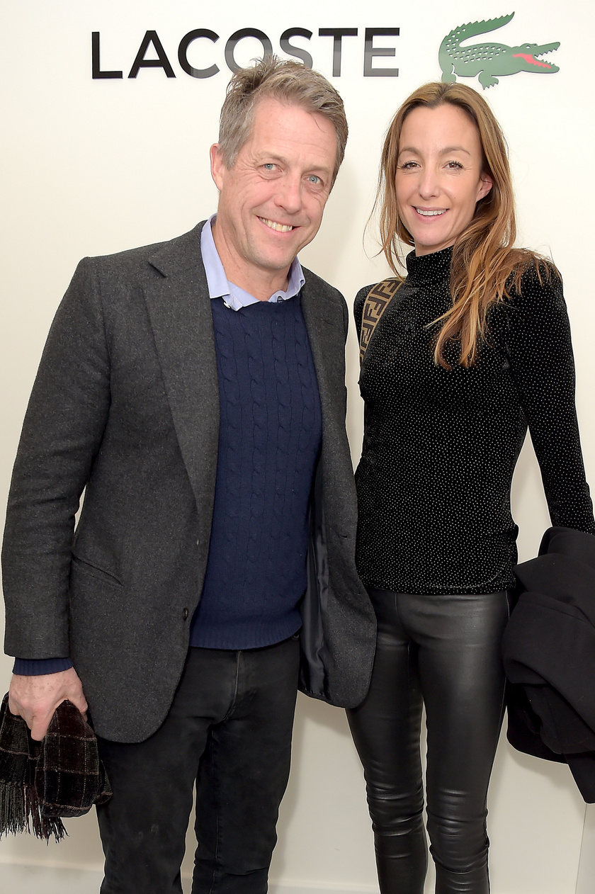 Hugh Grant és felesége, Anna Elisabet Eberstein az ATP World Tour Tennis végső mérkőzésére így jelentek meg november 17-én.