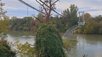 Leszakadt egy híd Franciaországban, egy ember meghalt, többen megsérültek