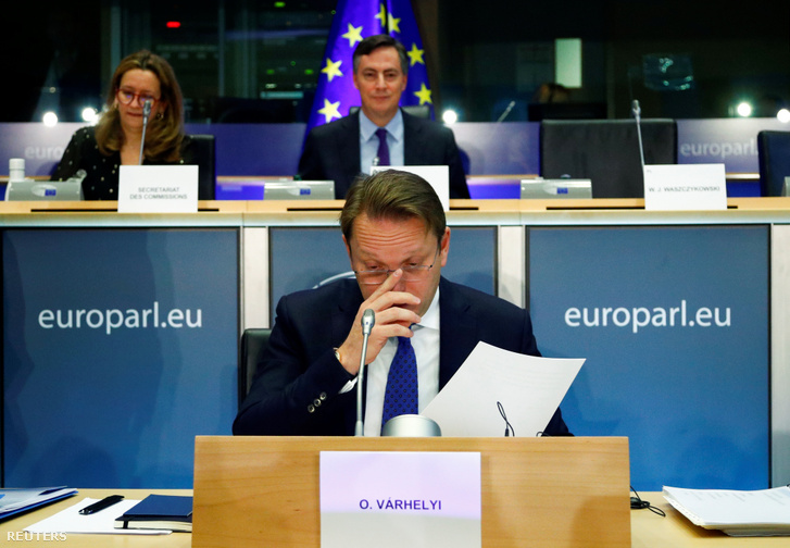 Várhelyi Olivér a szóbeli meghallgatásán Brüsszelben 2019. november 14-én