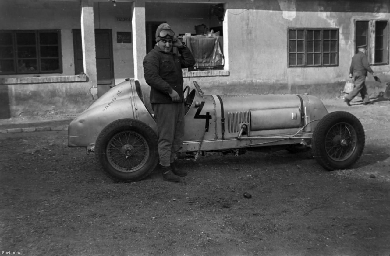 Szintén 1955 körüli felvétel, a Maseratin jól olvasható a IV. Autó SE (Sport Egyesület) felirat.