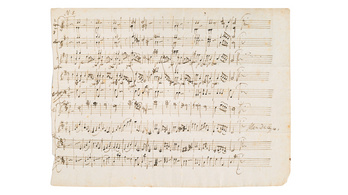 126 millió forintért kelt el Mozart fiatalkori partitúrája
