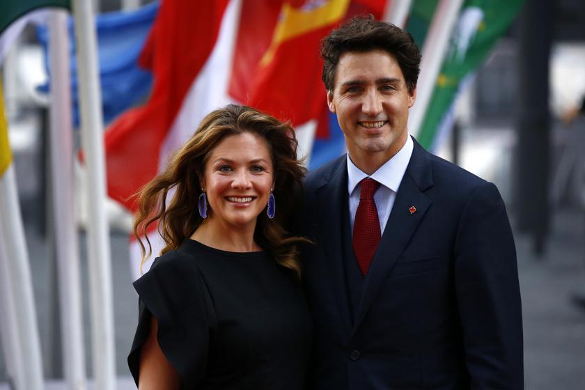 Justin Trudeau-t mindenben támogatja csinos felesége, Sophie.
