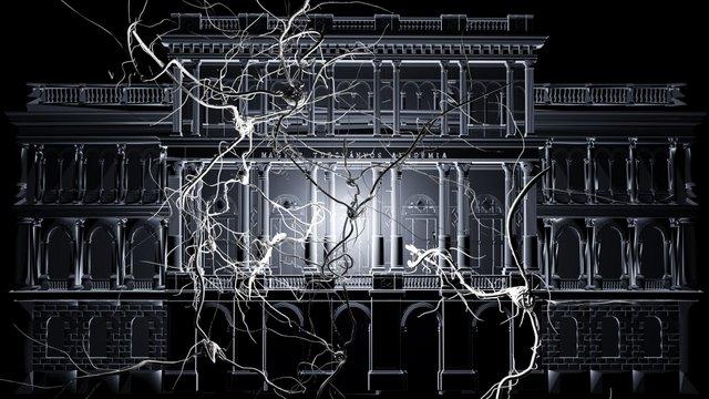 Három napig épület fényfestés a Magyar Tudományos Akadémián