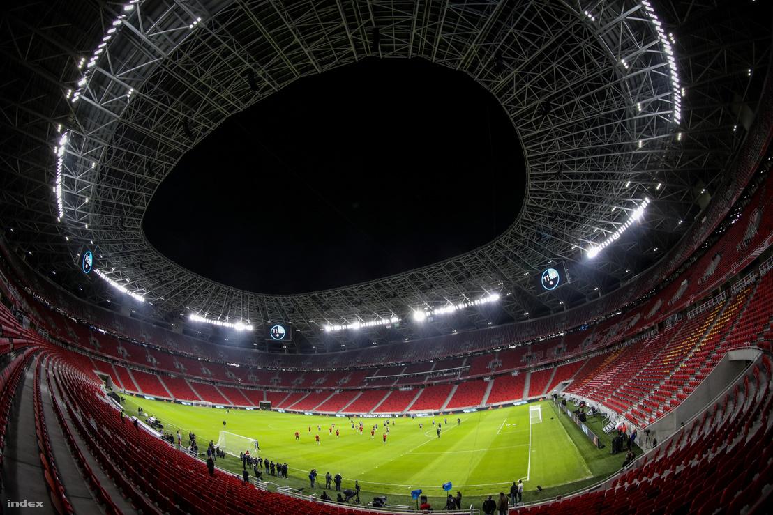 Uruguay és Magyarország edzése a Puskás Arénában a megnyitómérkőzés előtti napon