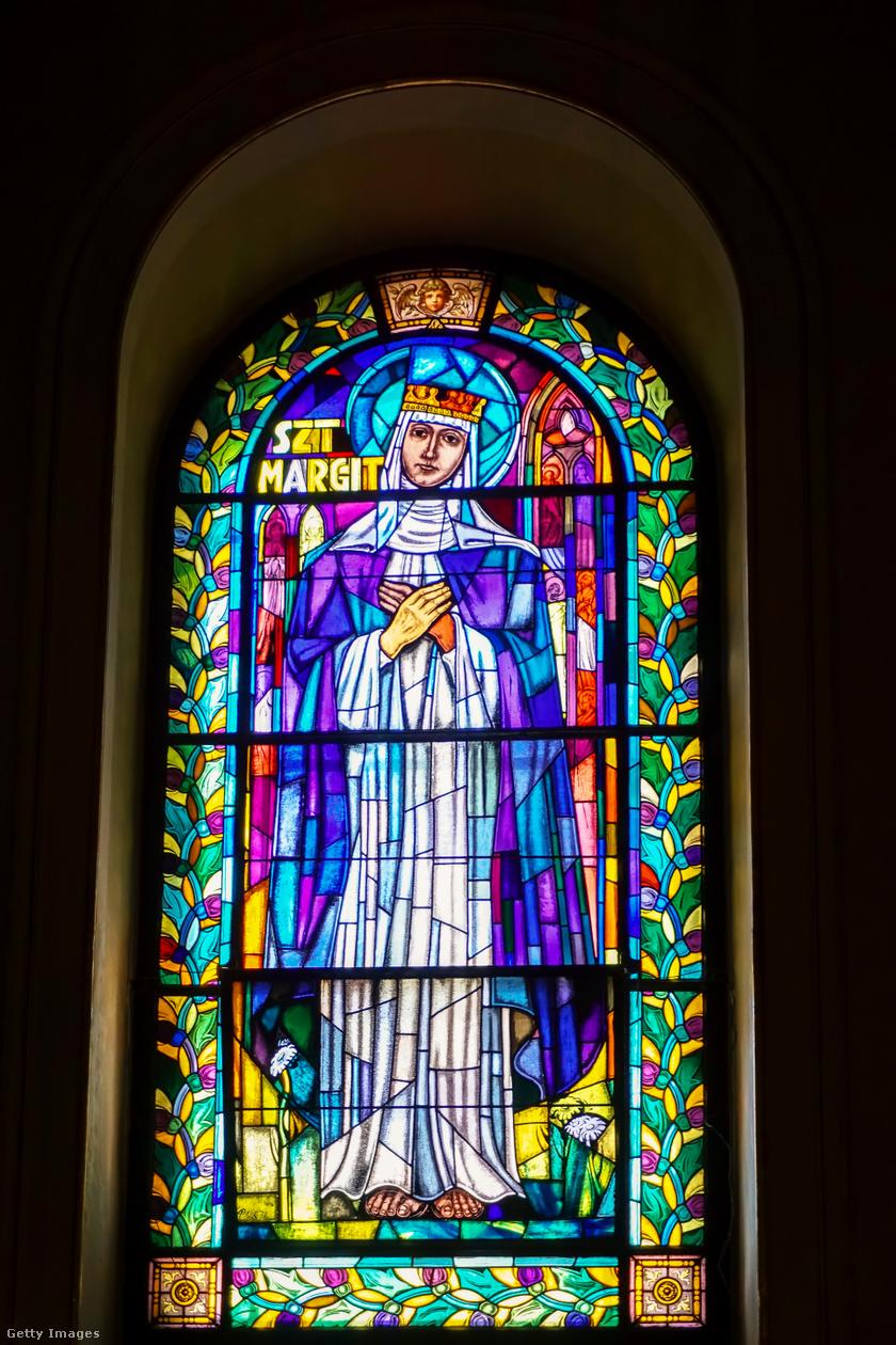 Szent Margit képe a Bazilikában