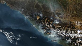 10 ezer hektár erdő ég a Kaukázusban