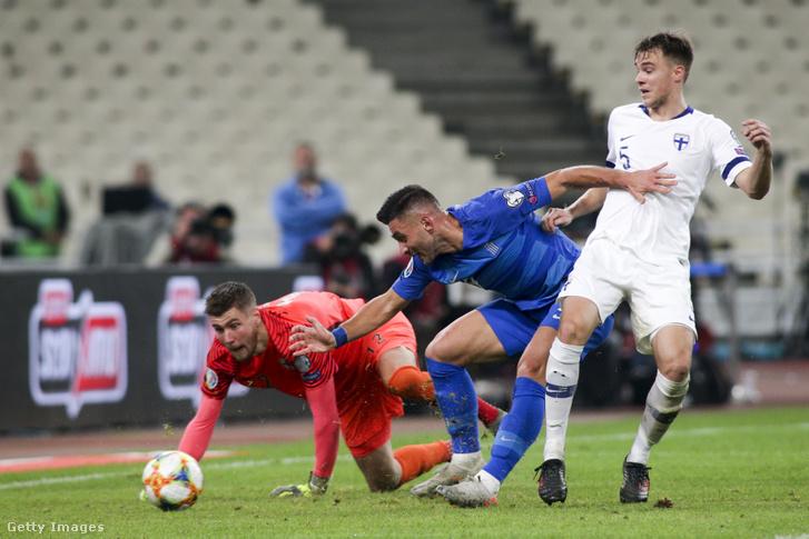 Görögország-Finnország (2-1) mérkőzés 2019 november 18-án