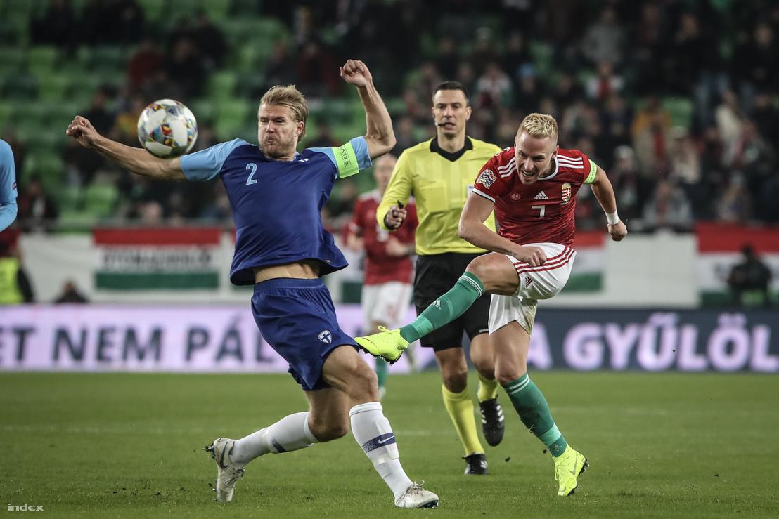 Magyarország–Finnország mérkőzés 2018 novemberében (2-0)