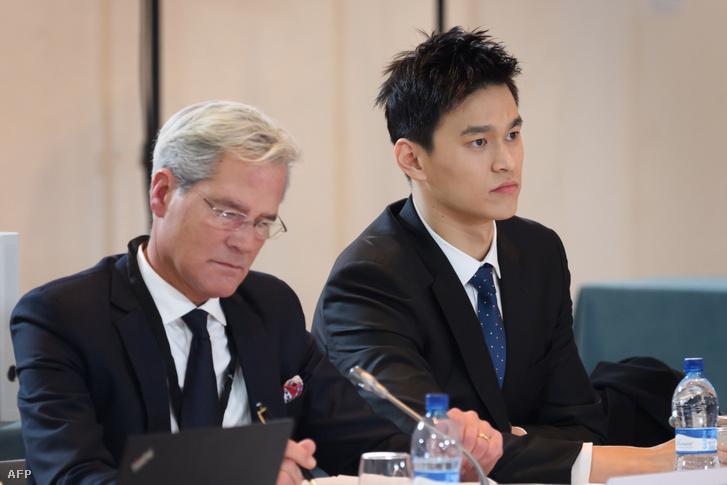 Szun Jang a sportdöntőbíróság meghallgatásán
