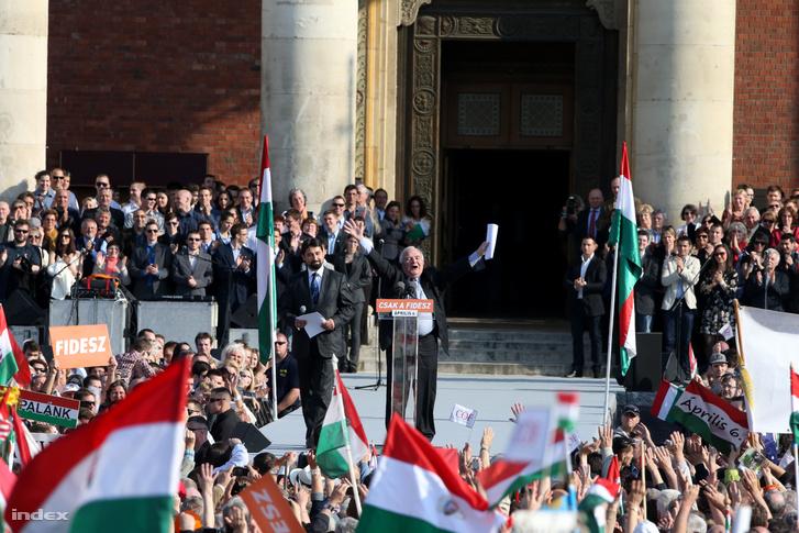 Joseph Daul 2014-ben a Békementen Budapesten