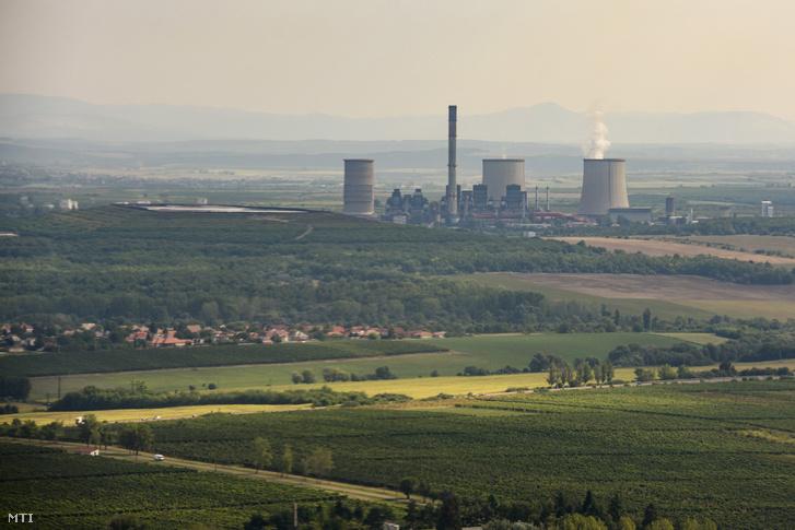 A Mátrai Erőmű Visonta közelében 2019. augusztus 21-én készült légi fotón.