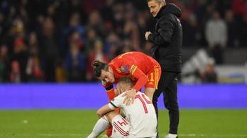 Bale ünneplés helyett a síró Lovrencsicset vigasztalta a walesi meccs után