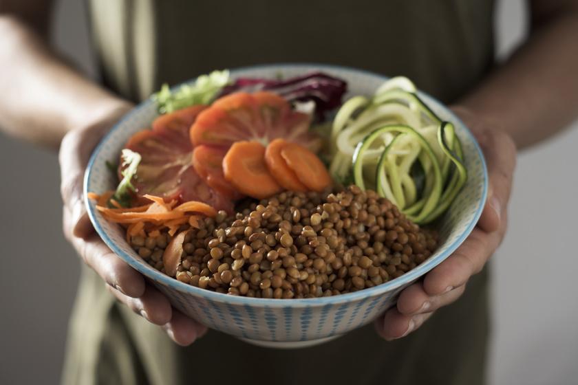lencse salátában