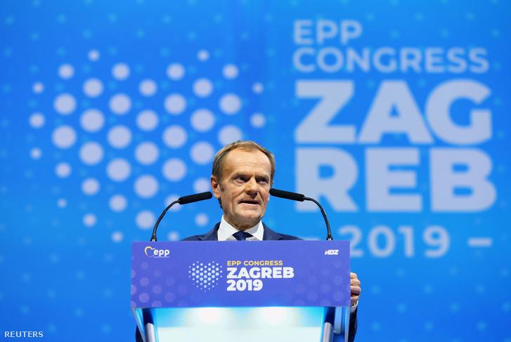 Donald Tusk a Néppárt zágrábi kongresszusán