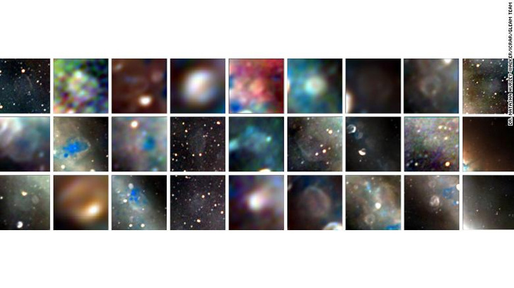 A 27 újonnan felfedezett szupernóva-maradvány fotói