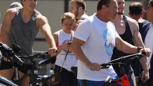 Arnold Schwarzenegger fia leutánozta apja híres pózát