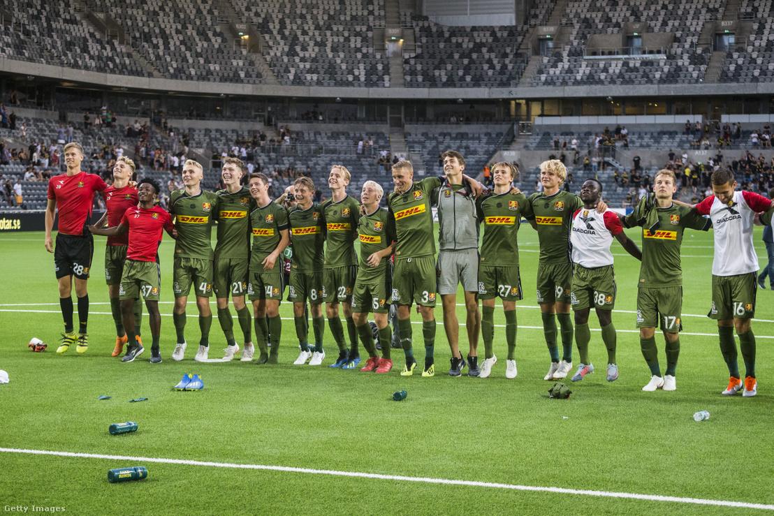 A Nordsjaelland csapata 2018 augusztusában
