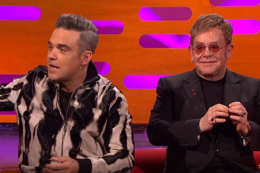 Robbie Williams és Elton John a mai napig jó viszonyt ápolnak egymással.