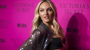 A Victoria's Secret diszkó-hangulatú fehéreműket dob piacra, Candice Swanepoel pedig csak egyetlen kabátot húzott magára