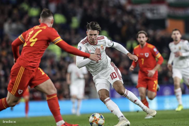 Wales - Magyarország labdarúgó Európa-bajnoki selejtező a cardiffi városi stadionban 2019. november 19-én.