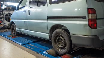 Totalcar Erőmérő: Toyota HiAce  2.4 D 1998