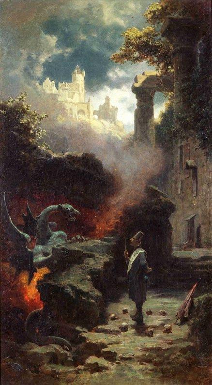 Carl Spitzweg Boszorkánymester című festménye (1880)