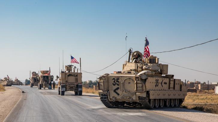 Az Iszlám Állam maradványainak felszámolásában részt vevő amerikai alakulatok Kelet-Szíriában, november 10-én.